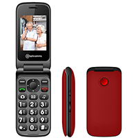 Amplicomms PowerTel M6750 Amplified Clamshell Mobile Phone - Red