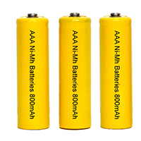 Rechargeable Batteries AAA 750-800mAh NiMh - 3 Pack