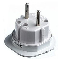Continental 3 Pin To 2 pin Travel Adapter UK To Europe