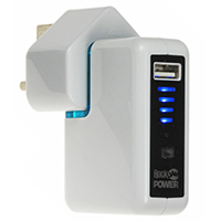 USB Power Adaptor Backup For Worldwide Use