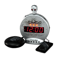 Sonic Alert SBS550bc The Skull Extra Loud Digital Alarm Clock