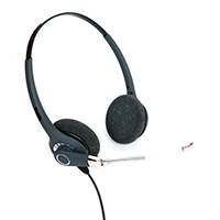 ProTelX PTX-201 Binaural Voice Tube Headset With Free 2.5mm Jack Lead