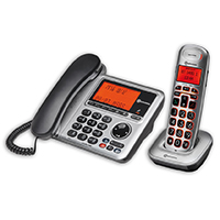 Amplicomms BigTel 1480 Combo Corded & Cordless Amplified Telephone